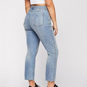 Free People CRVY High-Rise Vintage Straight Jeans